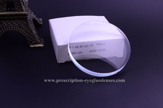 SF CR39 1.499 Round Top Bifocal Lens Blanks 70mm Diameter 58 Abbe Value
